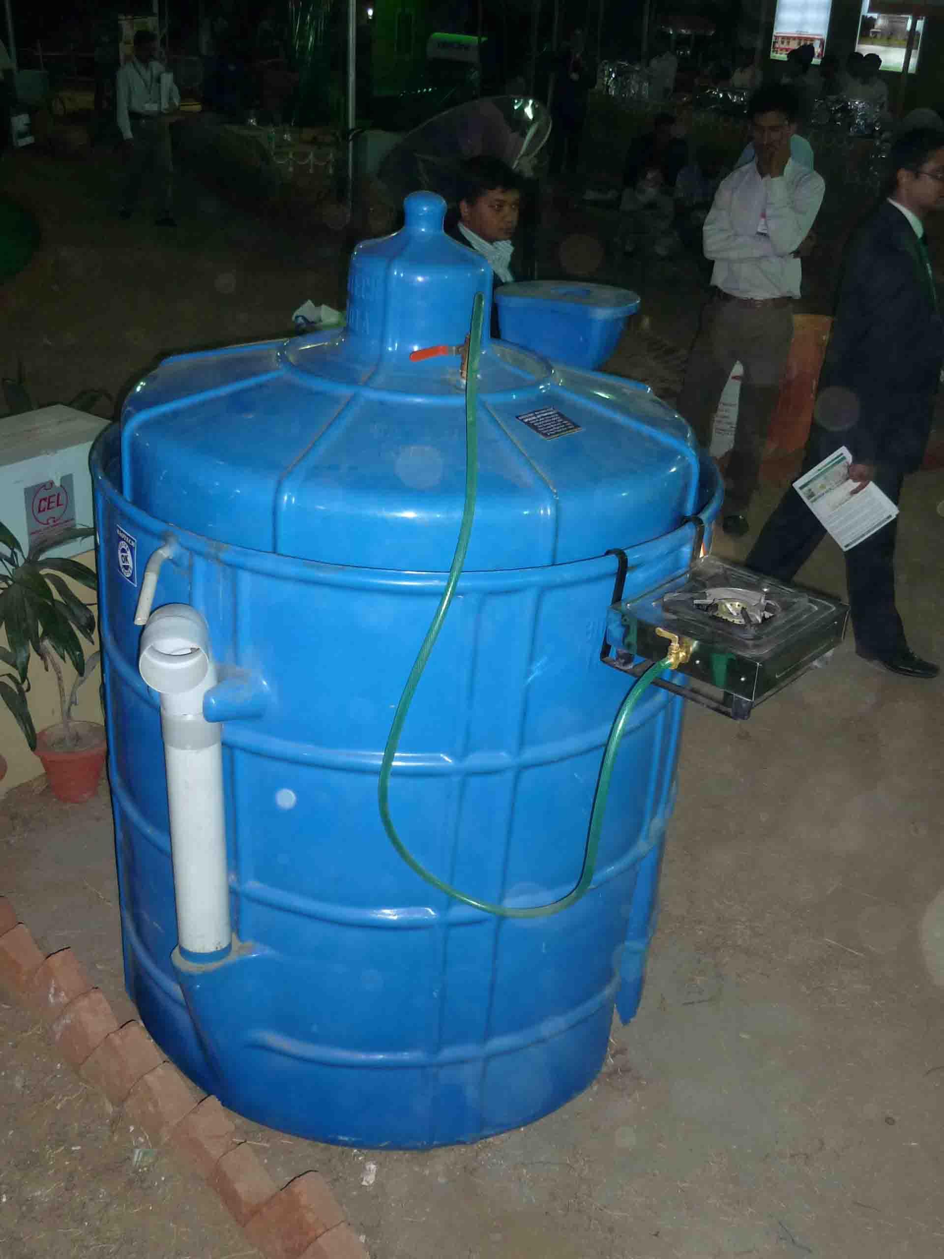 Appareil à biogaz direc 2010 Inde Delhi Oorjaa